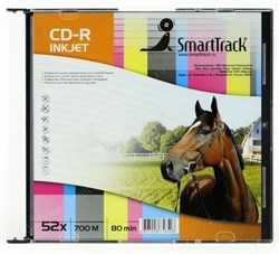CD-R 700Mb 80min SmartTrack 52x, slim, printable - фото 8210