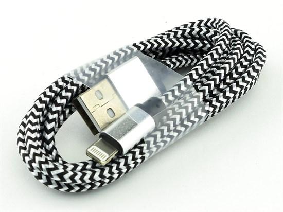 Кабель USB A --> Lightning 8pin (m) 1.2м для Apple, белый, Smart Buy iK512 met - фото 8214
