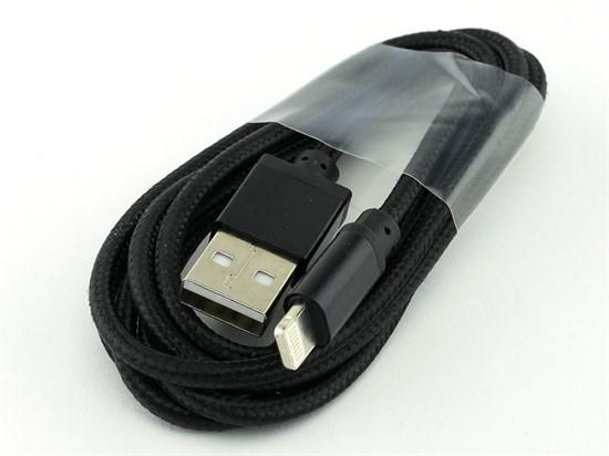 Кабель USB A --> Lightning 8pin (m) 1.2м для Apple, черный, Smart Buy iK512 met - фото 8215