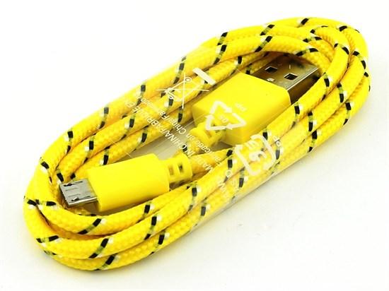 Кабель USB A --> Micro USB 5P (B) 1.2м нейлон, желтый SmartBuy iK12n - фото 8217