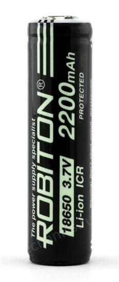 Аккумулятор 18650 Robiton, защищенный, 2200mAh 3.7V, Li-Ion, 1шт. - фото 8229