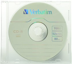 CD-R 700Mb 80min Verbatim 52x, slim - фото 8339