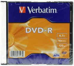 DVD-R 4.7GB Verbatim 16x, slim - фото 8347