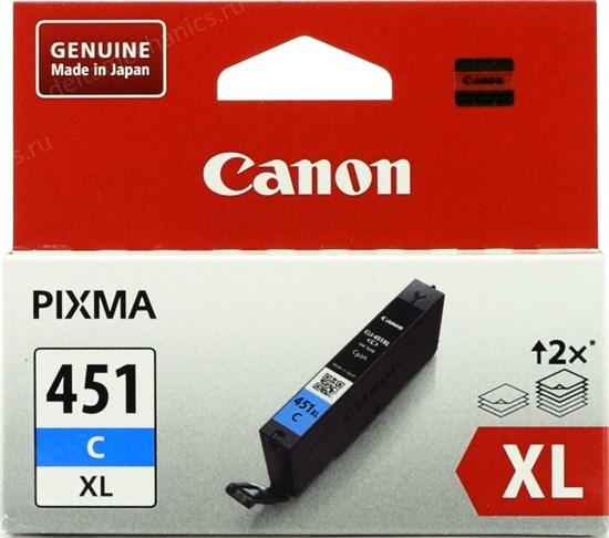 К-ж Canon CLI-451C XL Cyan (MG6340, MG5440, IP7240) увеличенной емкости, ориг. - фото 8364