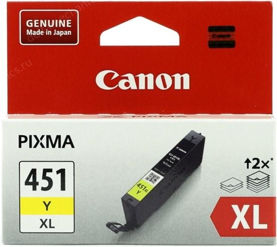 К-ж Canon CLI-451Y XL Yellow (MG6340, MG5440, IP7240) увеличенной емкости, ориг. - фото 8366