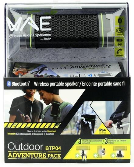 Портативная акустика Hercules WAE BTP04 Outdoor Adventure Pack (Bluetooth, 2x2Вт, аккум. до 14часов, IP64) (4780549) - фото 8442