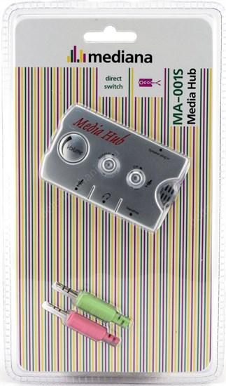 Audio Hub Galaxy AH-01/ Mediana MA-001S перекл. колонки/ микрофон, регул. громкости - фото 8545
