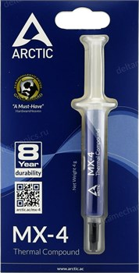 Термопаста ARCTIC Cooling MX-4 (4 грамма) 8.5 W/mK (ACTCP00002B) - фото 8572