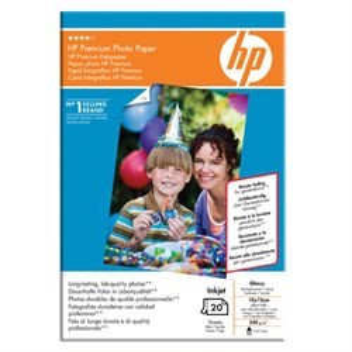 Бумага HP A6 Q1991A Premium Photo Paper (глянцевая, 20л, 10x15см, 240 г/м2) - фото 8618