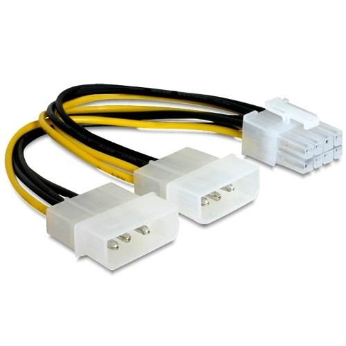 Переходник питания для видеокарт 2xMolex 4-pin -> 8pin PCI-E - фото 8986