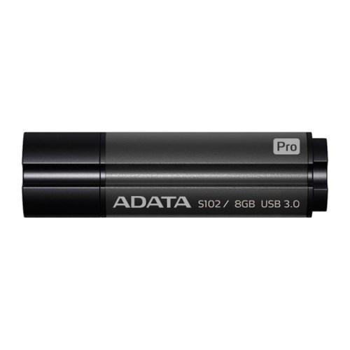 USB 3.0 Flash Drive 8GB ADATA Superior S102 Pro, серый алюминий (AS102P-8G-RGY) - фото 9004