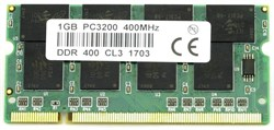 SO-DIMM DDR 1GB PC3200 DDR400 200pins Micron - фото 9481