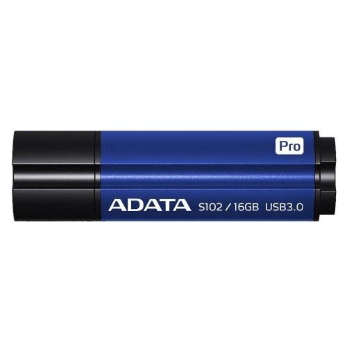 USB 3.0 Flash Drive 16GB ADATA Superior S102 Pro, синий алюминий (AS102P-16G-RBL) - фото 9934