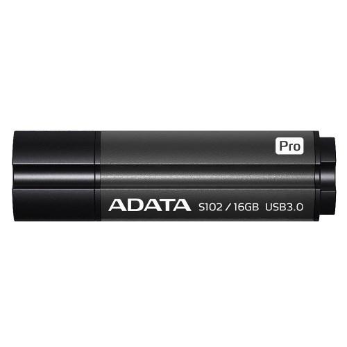 USB 3.0 Flash Drive 16GB ADATA Superior S102 Pro, серый алюминий (AS102P-16G-RGY) - фото 9997