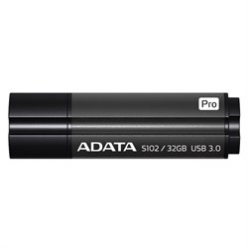 USB 3.1 Flash Drive 32GB ADATA Superior S102 Pro, серый алюминий (AS102P-32G-RGY) - фото 9998