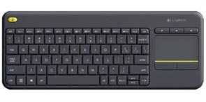 Беспроводная клавиатура Logitech K400 Plus Black с тачпадом (USB) (920-007147)