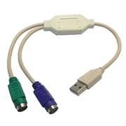Переходник-конвертер USB-->2 x PS/2 (Am-2xPS/2) 0.1м