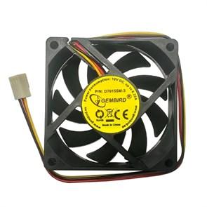 Вентилятор Gembird 70х70x15мм питание от мат.платы, управляемый