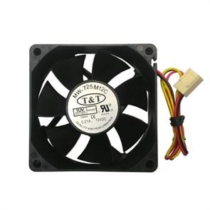 Вентилятор 70х70x25мм питание от мат.платы, на подшипнике (MW-725M12C)
