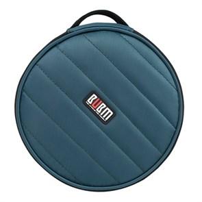 Портмоне на 32 CD/DVD BUBM case Y32P, круглое, темно-синее