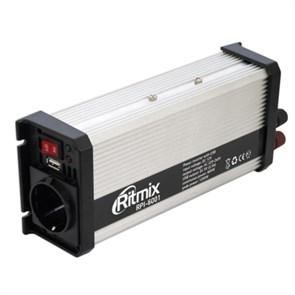 Адаптер питания автомобильный 12v -> 220V 600W Ritmix RPI-6001 + 5V USB (в прикуриватель/ к аккумулятору)
