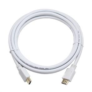 Кабель HDMI19M - HDMI19M 1.4b/2.0 Cablexpert, зол.конт., экран, 1.0м, белый