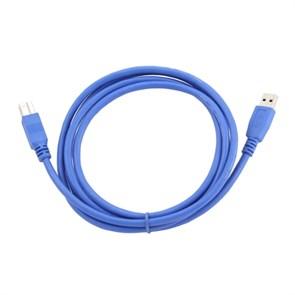 Кабель USB тип A-B 1.8м (USB 3.0) Gembird, синий, позолоченныe контакты