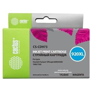 К-ж HP CD973AE 920XL Officejet пурпурный, 6мл, Cactus