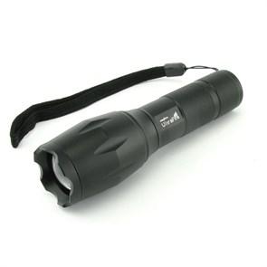 Фонарь UltraFire E17-T6 (1xCree XM-L T6, 1x18650/3хААА, Zoom, 5 режимов, черный, алюминий)