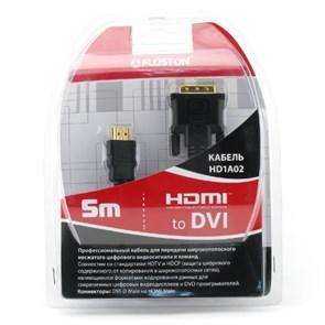 Кабель HDMI19M - DVI19M 1.4b 5.0м Floston HD1A02