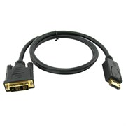 Кабель Display Port (20M) - DVI (19M), 1.0м
