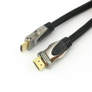 Кабель HDMI19M - HDMI19M Luxmann 5.0м (0.35 Cu OFC 99.999%, разъемы Gold 24K)