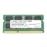SO-DIMM DDR3 8GB PC3-12800 DDR3-1600 Apacer DV.08G2K.KAM (AS08GFA60CATBGJ) 1.35V