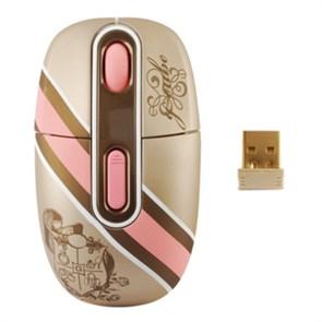 Мышь беспров. A4Tech G-Cube Royal Innocence, 1000dpi, розовая, USB (G4R-10RI)