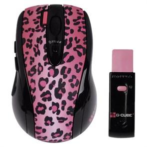 Мышь беспров. A4Tech G-Cube Lux Leopard, розовая, USB (G4L-70PF)