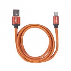 Кабель USB A --> Type-C (M) 1.0м (USB 2.0) RITMIX RCC-435 Leather