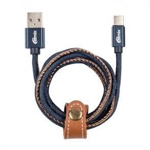 Кабель USB A --> Type-C (M) 1.0м (USB 2.0) RITMIX RCC-437 Blue Jeans