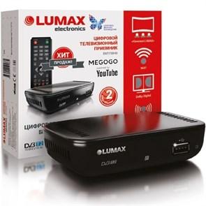 Ресивер цифрового телевидения LUMAX DV-1110HD (DVB-T2, HDMI, RCA, USB/опц.Wi-Fi)