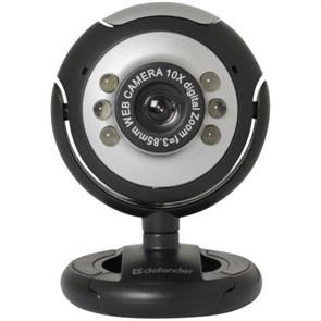 Defender C-110 (CMOS 0.3Мп, подсветка, микрофон jack 3.5мм, кнопка фото), USB