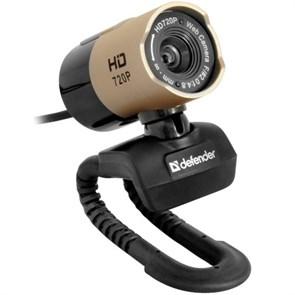 Defender G-lens 2577 HD720p (CMOS 1/4-2Мп, 5сл. стекл.линза, микрофон, кнопка фото), USB