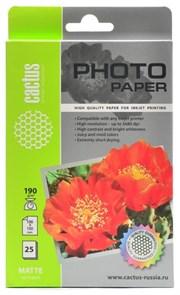 Бумага Cactus CS-MA619025, A6, матовая, 190 г/м2, 25л