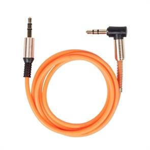 Кабель jack 3.5мм-jack 3.5мм 1.0м, L-коннектор, Ritmix RCC-247, оранжевый
