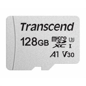 microSD Memory Card SDXC 128GB Class10 UHS-I U3 V30 A1 Transcend 95/45 MB/s (TS128GUSD300S)