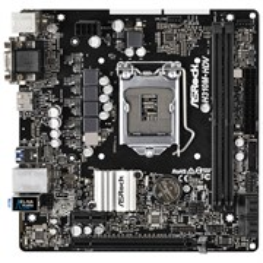 Socket 1151 ASRock H310M-HDV (iH310, 2xDDR4, 4xSATA 6Gb/s, DVI-D/D-Sub/HDMI, 4xUSB 3.1, GLAN, mATX)
