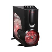 ATX 3Q Xclio A380PLUS-BK  (Red LED, 1.0mm SECC, w/o PSU)