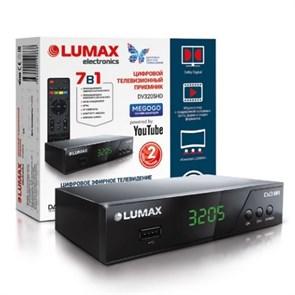 Ресивер цифрового телевидения LUMAX DV-3205HD (DVB-T2/C, металл, дисплей, HDMI, RCA, USB/опц.Wi-Fi/3G)