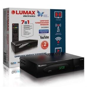 Ресивер цифрового телевидения LUMAX DV-3208HD (DVB-T2/C, металл, дисплей, HDMI, RCA, S-PDIF, USB/опц.Wi-Fi)