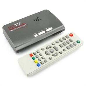 TV-Tuner DVB-T2 внешний (D-Sub (VGA), HDMI, 3RCA, USB 2.0 in, пульт ДУ)