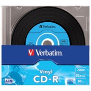 CD-R 700Mb 80min Verbatim 52x Music Vinyl, DL+, для аудио, slim