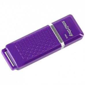 USB 2.0 Flash Drive 16GB SmartBuy Quartz, фиолетовый